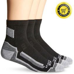 Carhartt Men's 3 Pack Force Performance Work Quarter Socks,