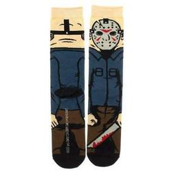 FRIDAY THE 13TH JASON VOORHIES CREW SOCKS NEW!