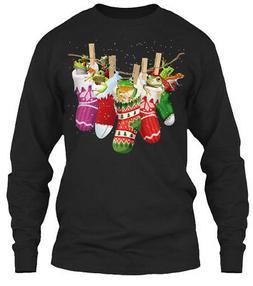 Frog-sock-merry Christmas Gildan Long Sleeve Tee T-Shirt