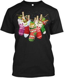 Frog-sock-merry Christmas Hanes Tagless Tee T-Shirt