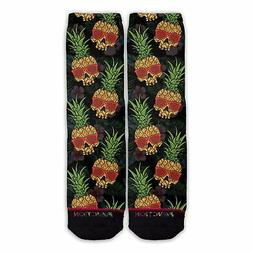 Function - Pineapple Skull Pattern Sock Funny Novelty fruit