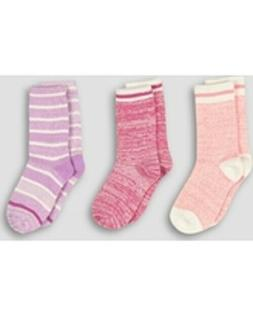 Hanes Girls' 3pk Super Soft Crew Socks Small 6-10.5