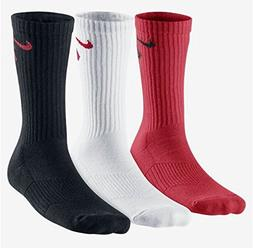 Nike 3 Pack Boys Graphic Cotton Cushioned Crew w/ Moisture M