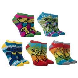 Grateful Dead Band Ankle Socks 5 Pairs Women's Tie Dye March
