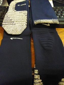 Nike Grip Socks KNEE high DARK BLUE  cushioned basketball so