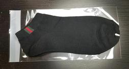 Gucci Cotton Blend Socks OS Mens Black Color One Pair New