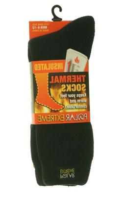 Polar Extreme Heat Men's Insulated Thermal Brushed Socks Bla