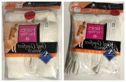 Hanes Her Way Cool Comfort Slouch Socks 4 Pair White Women's