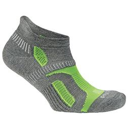 Balega Hidden Contour Socks For Men and Women , Charcoal/Neo
