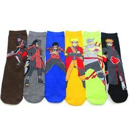 Janpanese Anime Naruto Long Sock Art Sock Unisex Cosplay Aka