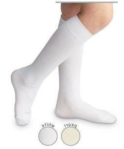 Jefferies Boys or Girls Nylon Knee Socks Pearl or White  NB