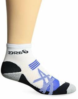 ASICS Kayano Quarter Socks, White/New Blue, Large