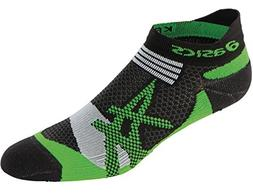 ASICS Kayano Single Tab Sock, Large, Black/Green Gecko