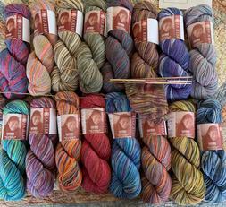khusku sock yarn 16 colors available