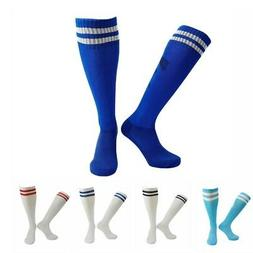 Kids/Adults Football Soccer Long Socks Knee High Stripe Sock