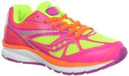 Saucony Girls Kinvara 4 Running Shoe ,Purple/Pink/Citron,5.5
