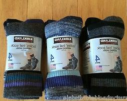 Kirkland Ladies Merino Wool Trail Socks - 4 Pair - Multiple
