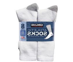 Kirkland Signature Men's Athletic Sock 8 Pair White Color