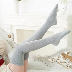 Knee <font><b>Socks</b></font> Women Cotton <font><b>Thigh</