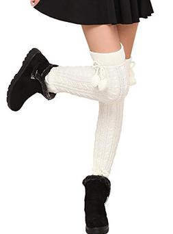 1 Pairs /2 Pairs Women Knit Leg Warmers Winter Long Boot Cuf