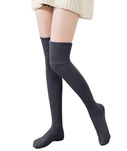 1 Pairs / 2 Pairs Women Knit Leg Warmers Winter Long Boot Cu