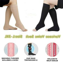 L-3XL Foot Care Open Toe Varicose Veins Compression Knee Hig