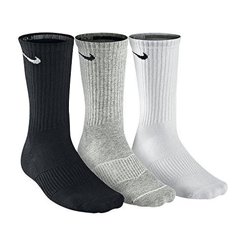 1 2 cushioned crew socks