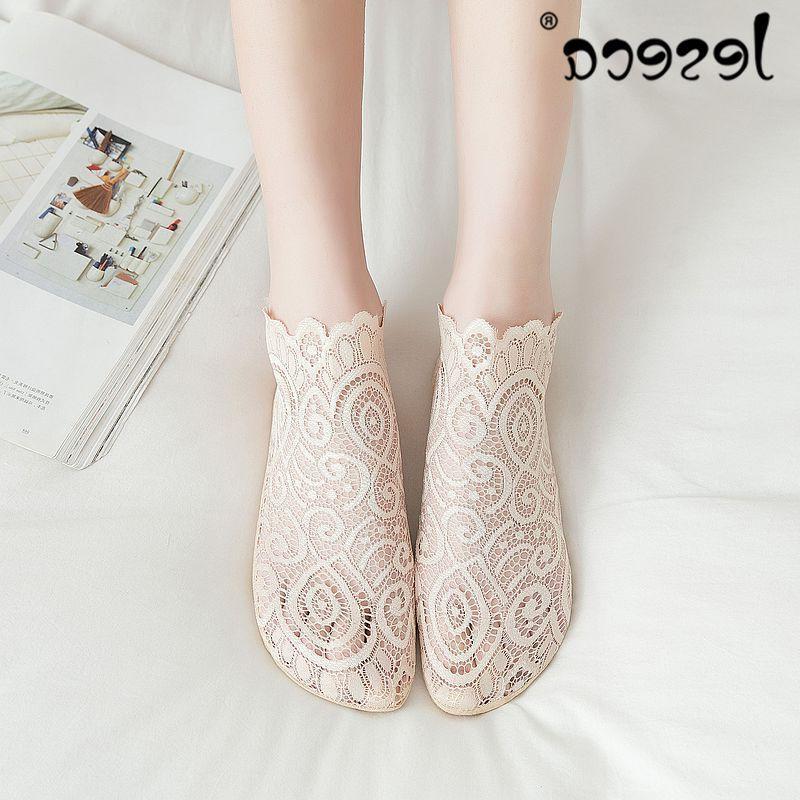 1 Fashion Women Girls Summer Lace Mesh Floral <font><b>Sock</b></font> <font><b>Ankle</b></font> 2019