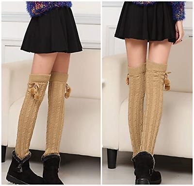 1 Pairs Pairs Women Knit Warmers Winter Long Socks