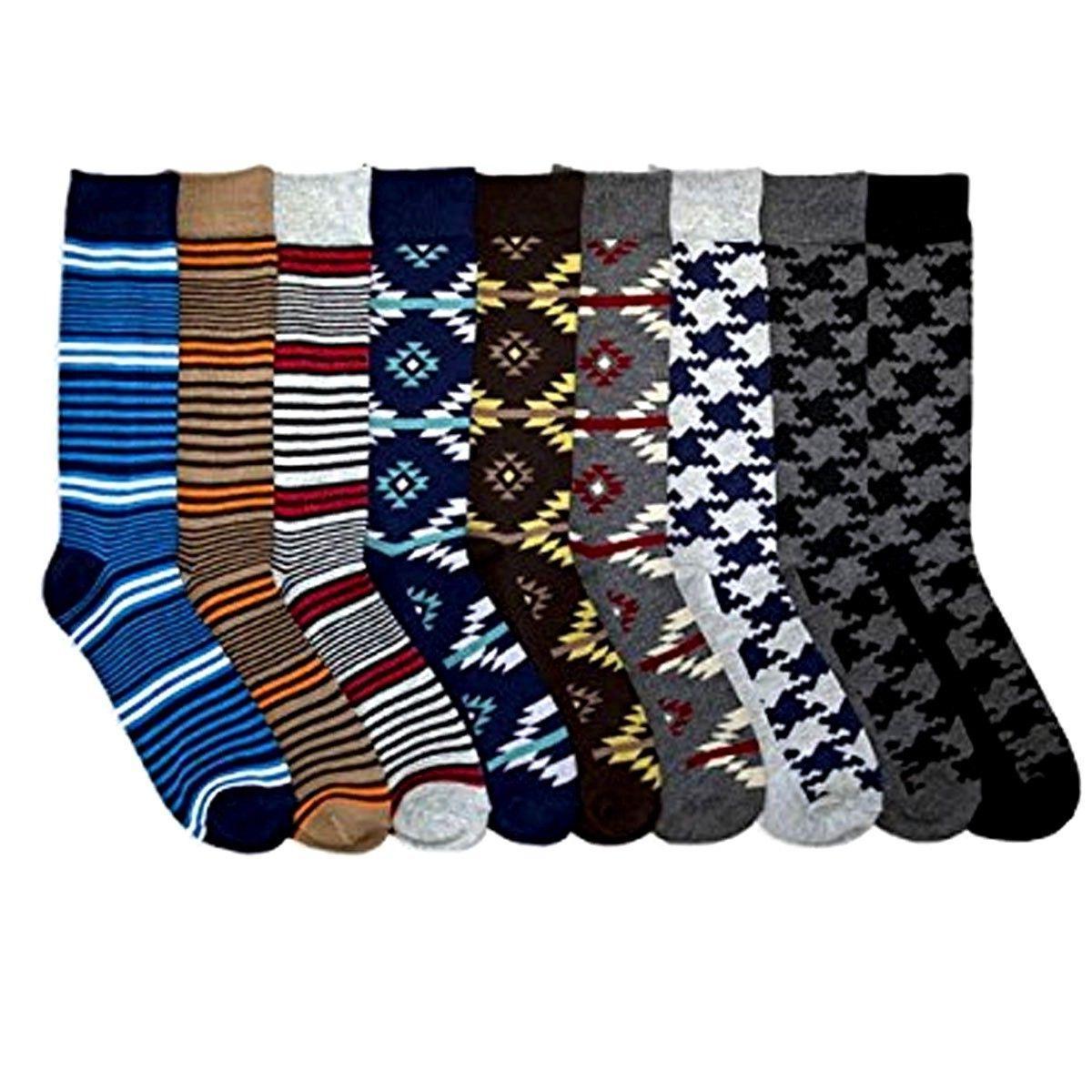 10 13 men dress sock design crew
