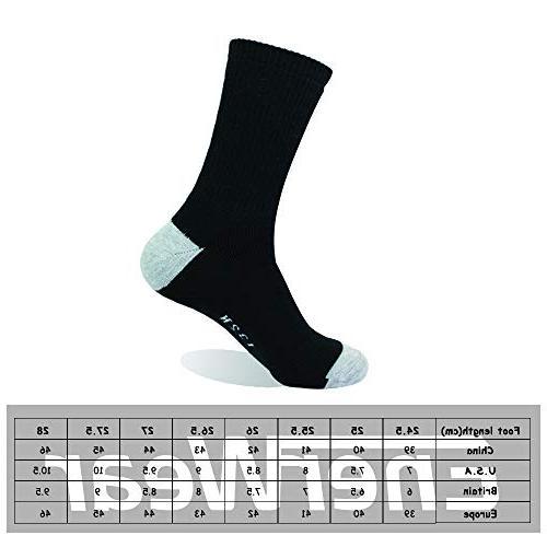 Enerwear Cotton Moisture Heavy Cushion Crew Socks