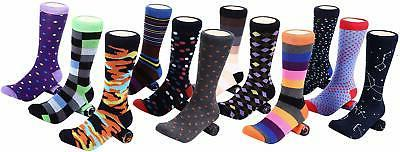 12 Pack Men's Fun Socks Patterned