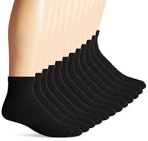 Hanes 186V12 Mens Ankle Socks Size 12-Pack Size 13 - 10 - Bl