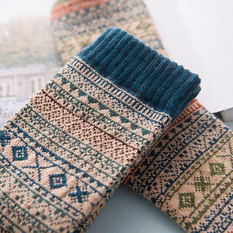 1pair Thick Warm Wool Warm <font><b>Socks</b></font> Men Colorful Mans <font><b>Socks</b></font>