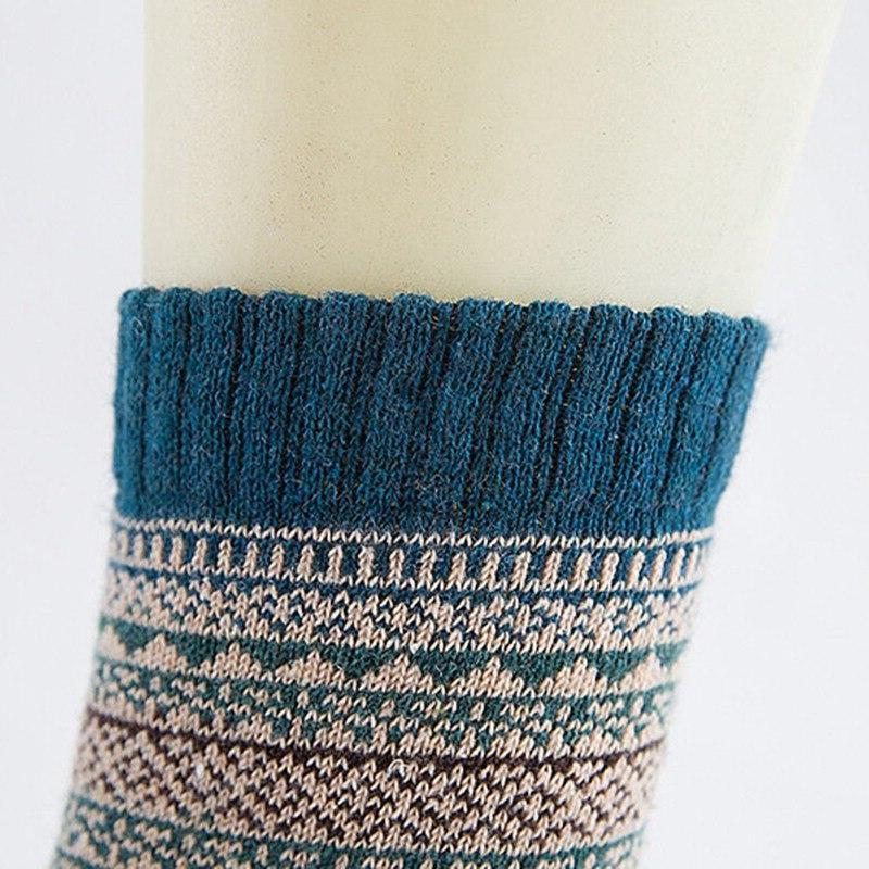 1pair Wool Blends <font><b>Socks</b></font> Men Retro