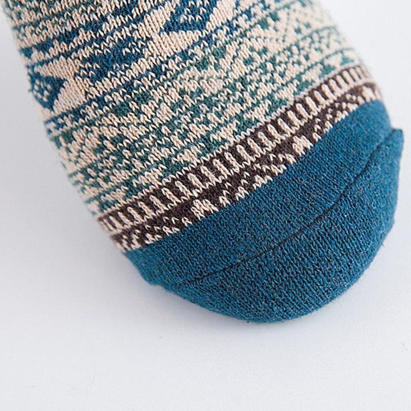 1pair Casual Thick Rabbit Wool Blends Warm <font><b>Socks</b></font> Colorful