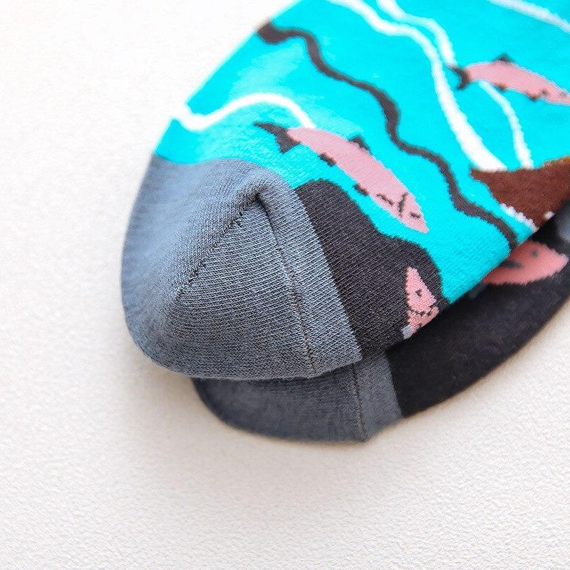 1Pair <font><b>Socks</b></font> Men Casual Unique Cute Cool <font><b>Socks</b></font> Mid Length <font><b>Socks</b></font>
