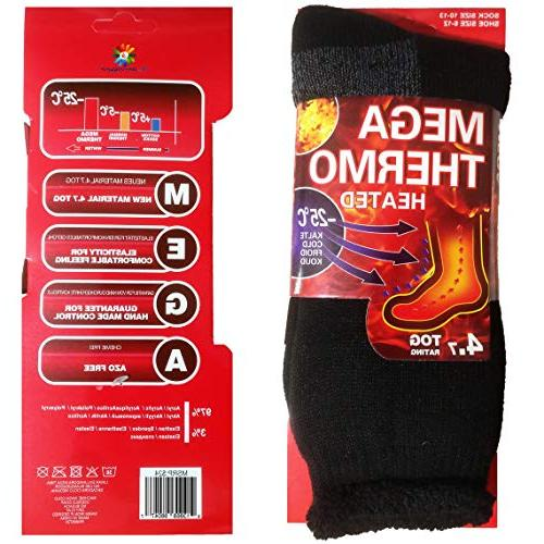 USBingoshop Pairs Heat Wool Winter Thermal Socks 10-13