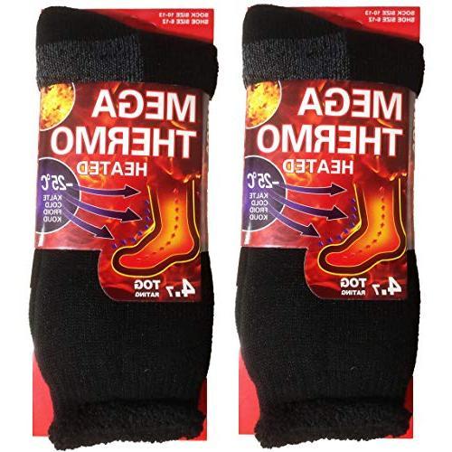 2 pairs men s heat thick insulated