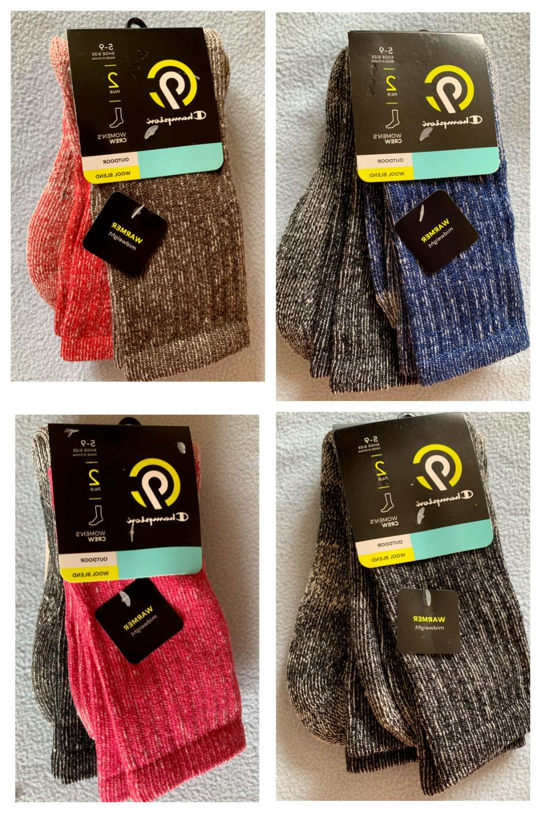 2 pairs women s c9 outdoor wool