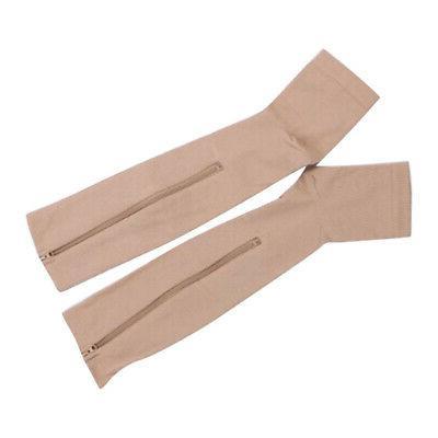Zipper Compression Socks Aniwon Open Toe Calf Leg Support Ho