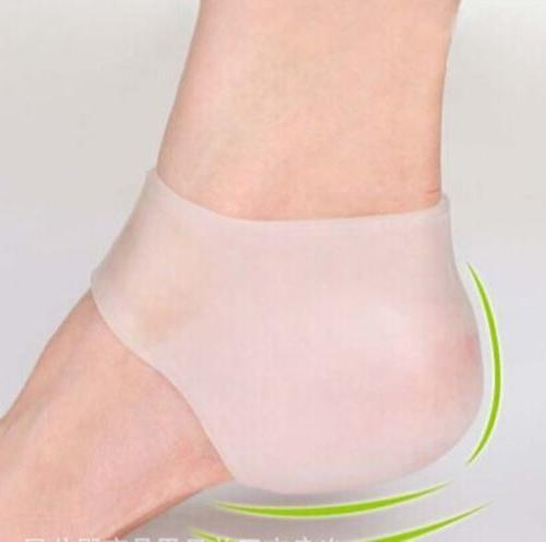 2 pcs Silicone Gel Heel Cracked Foot Skin WD