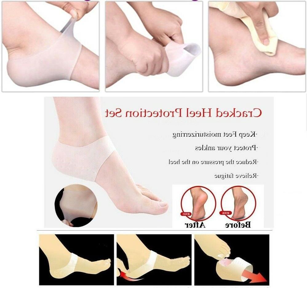 2 pcs soft silicone gel heel socks