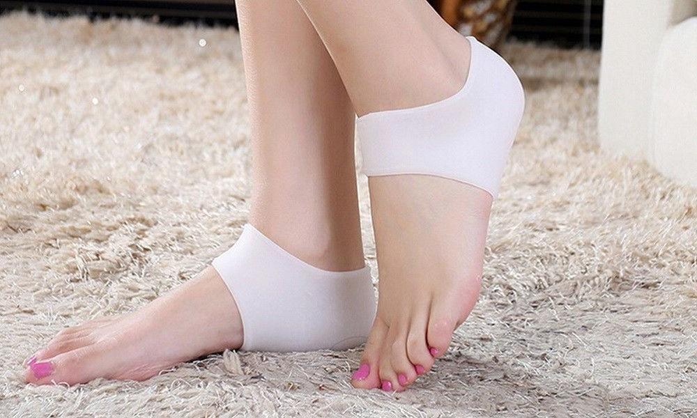 2PC Silicone Moisturizing Heel Skin Care Protector insole