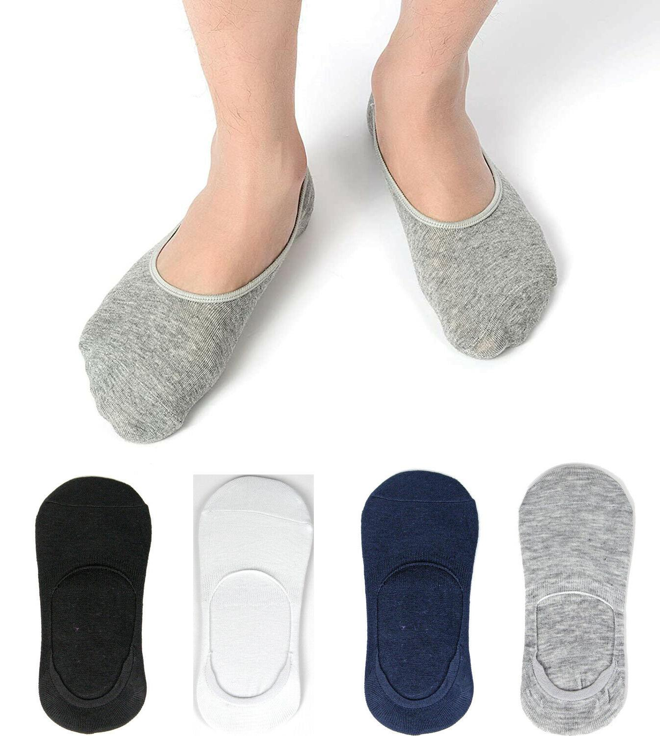 3-12 Pairs Socks No Loafer Cotton