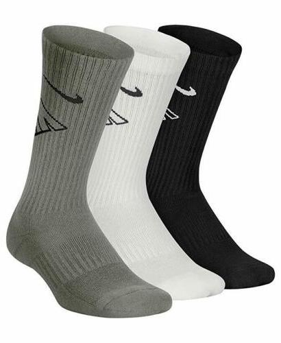 3 Pair Boys Nike Crew School Grey Swoosh