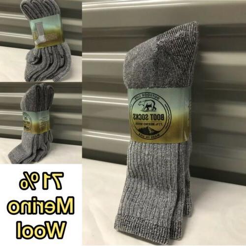 3 pair Life Thermal Boot Socks