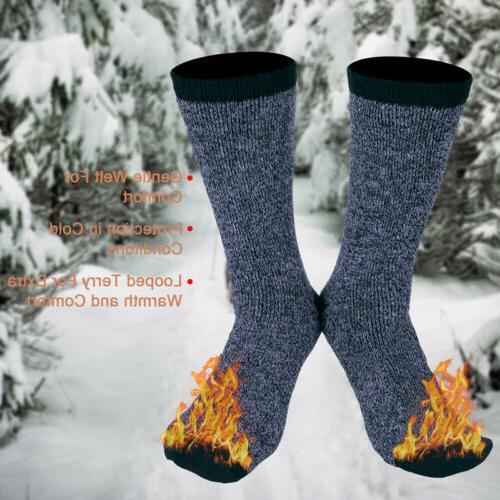 3 Mens Heavy Duty Thermal Winter Warm Work Crew 9-13
