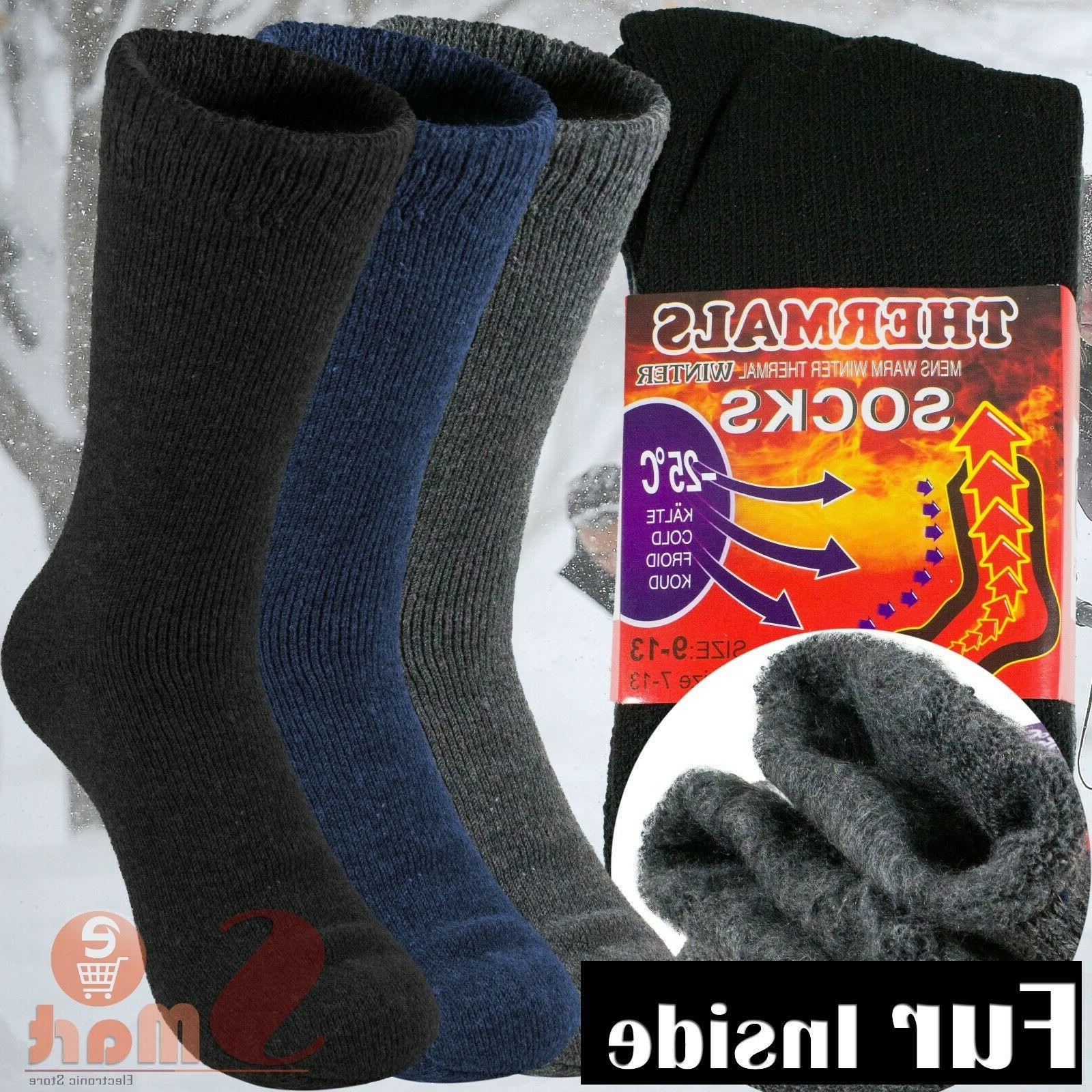3 pairs mens heavy duty thermal boot
