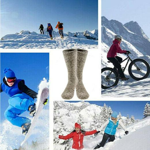 3 Pairs Winter Thermal Boots Mens 10-13